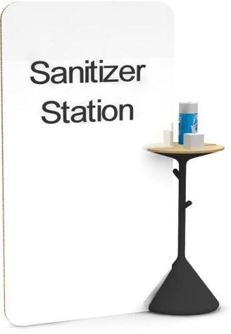 Mobile Sanitizing Flex Stand Station